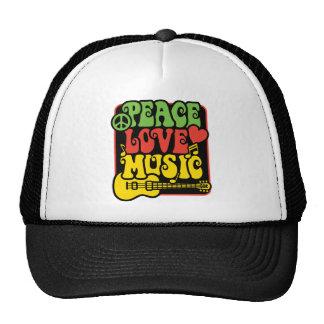 Rasta Peace Love Music Cap