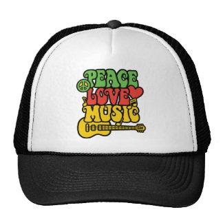 Rasta  Peace-Love-Music Cap