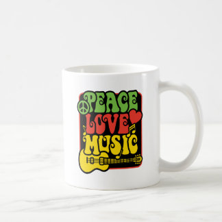 Rasta Peace Love Music Coffee Mug