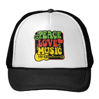 Rasta Peace Love Music Hat