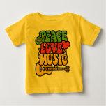Rasta  Peace-Love-Music Infant T-Shirt