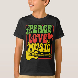 Rasta PEACE-LOVE-MUSIC T-Shirt