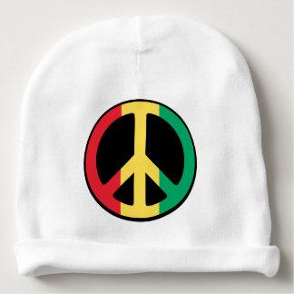 Rasta Peace Sign Baby Beanie
