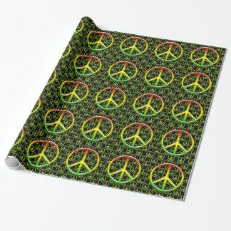 Rasta Peace Sign Pattern