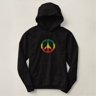 Rasta Peace Symbol Embroidered Shirt