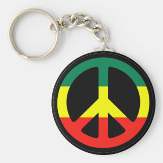 Rasta Peace Symbol Key Ring