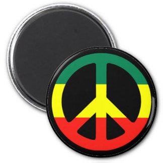 Rasta Peace Symbol Refrigerator Magnets