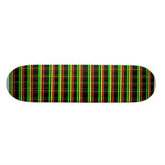 Rasta Plaid Deck 20.6 Cm Skateboard Deck