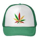 rasta pot leaf hats