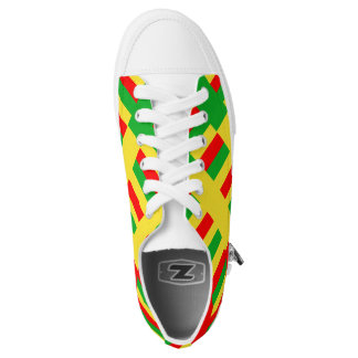 Rasta Red Green Gold Shoe Printed Shoes