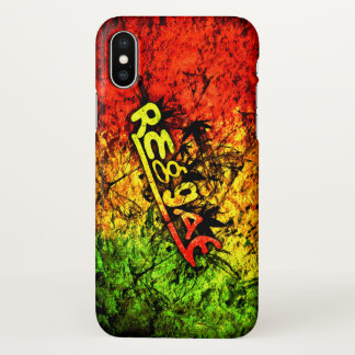rasta reggae graffiti art iPhone x case