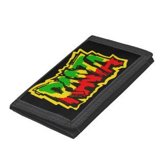 Rasta reggae graffiti tri-fold wallets