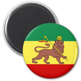 Rasta Reggae Lion of Judah 6 Cm Round Magnet