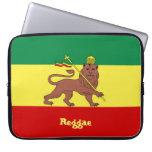"Rasta Reggae Lion of Judah Neoprene 15"" Sleeve Laptop Computer Sleeves"