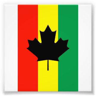 Rasta Reggae Maple Leaf Flag Photographic Print