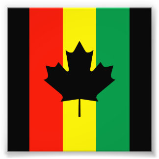Rasta Reggae Maple Leaf Flag Art Photo