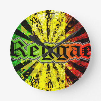 rasta reggae round clock