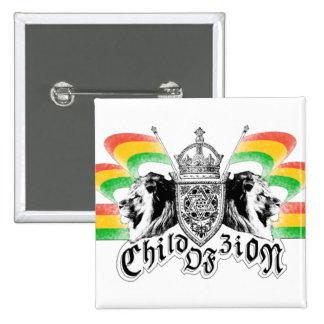 Rasta Reggae Royal Crest Button