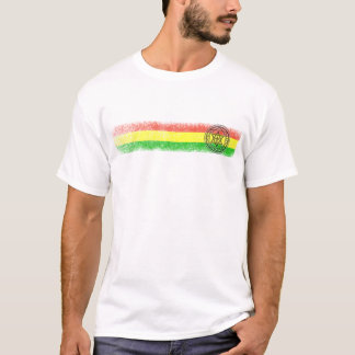 Rasta Reggae Star and Cross T-Shirt
