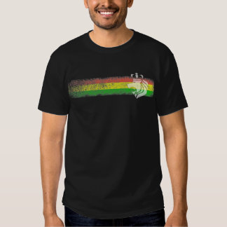 Rasta Reggae Stripes with Crowned Lion Shirts