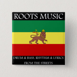 Rasta - Roots Music Ethiopia Flag Lion of Judah 15 Cm Square Badge