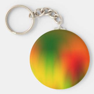 Rasta Splash of Color Key Ring