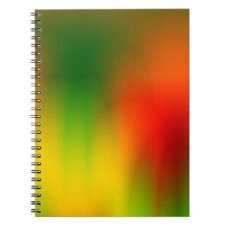 Rasta Splash of Color Spiral Notebook