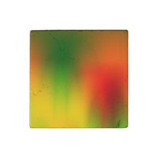 Rasta Splash of Color Stone Magnet