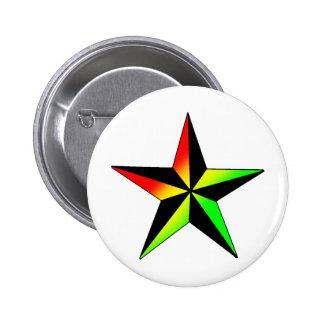 Rasta Star 6 Cm Round Badge
