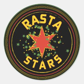 Rasta Stars Round Sticker