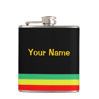Rasta-Striped Flask