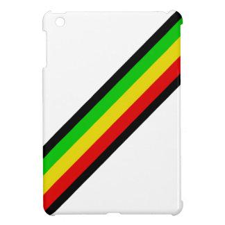 Rasta Stripes on White. iPad Mini Cover