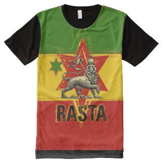 Rasta t-shirt all over print lion of judah design All-Over print T-Shirt