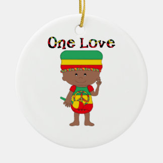 Rasta Themed Gifts and Tees for Kids, Adults Ceramic Ornament