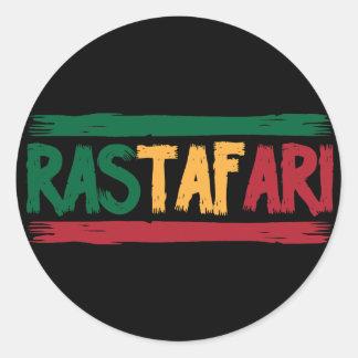 Rastafari Classic Round Sticker