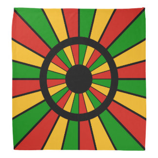 RASTAFARI FLAG BUTTON RAYS + your sign or monogram Bandana