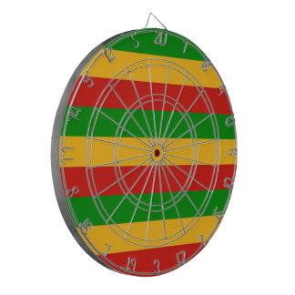RASTAFARI FLAG COLORS + your ideas Dartboard