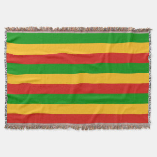 RASTAFARI FLAG COLORS + your ideas Throw Blanket