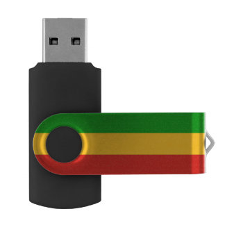 RASTAFARI FLAG COLORS + your ideas USB Flash Drive