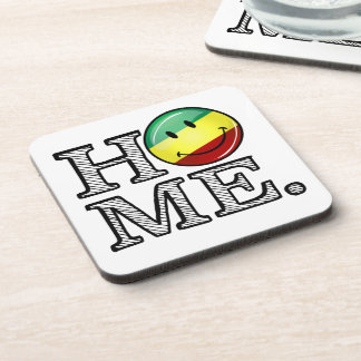Rastafari Pride Smiling Flag Housewarming Coaster