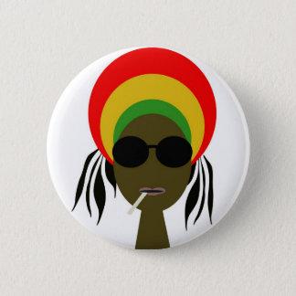 rastafarian 6 cm round badge