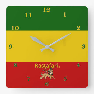 Rastafarian Bob Marley Region Wall Clock