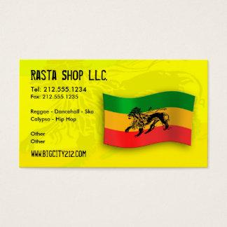 Rastafarian Editable Business Card