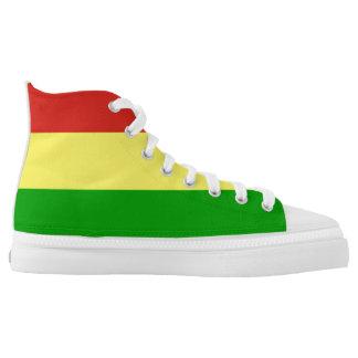 rastafarian flag rasta religion jamaica printed shoes