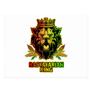 Rastafarian King Lion Postcard