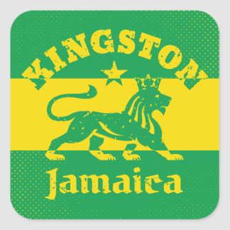 Rastafarian Kingston Jamaica Square Sticker