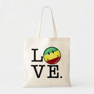 Rastafarian Love Happy Rasta Flag Tote Bag