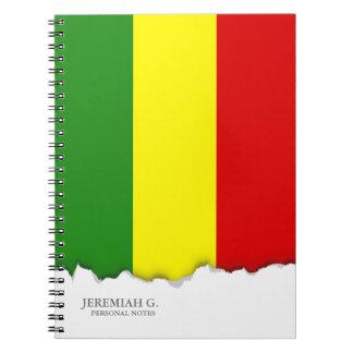 Rastafarian Pride Flag Spiral Notebook