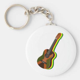 Rastafarian Reggae Guitar Jamaica Key Ring