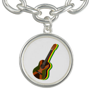 Rastafarian Reggae Guitar Jamaican Flag